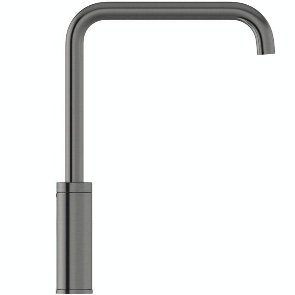 Schön Skye L spout gunmetal kitchen mixer tap