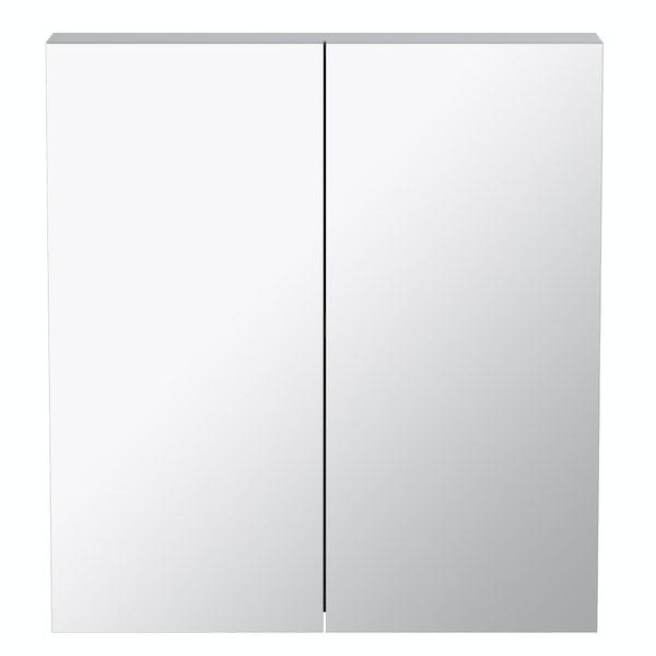 Orchard Wharfe slate grey mirror cabinet