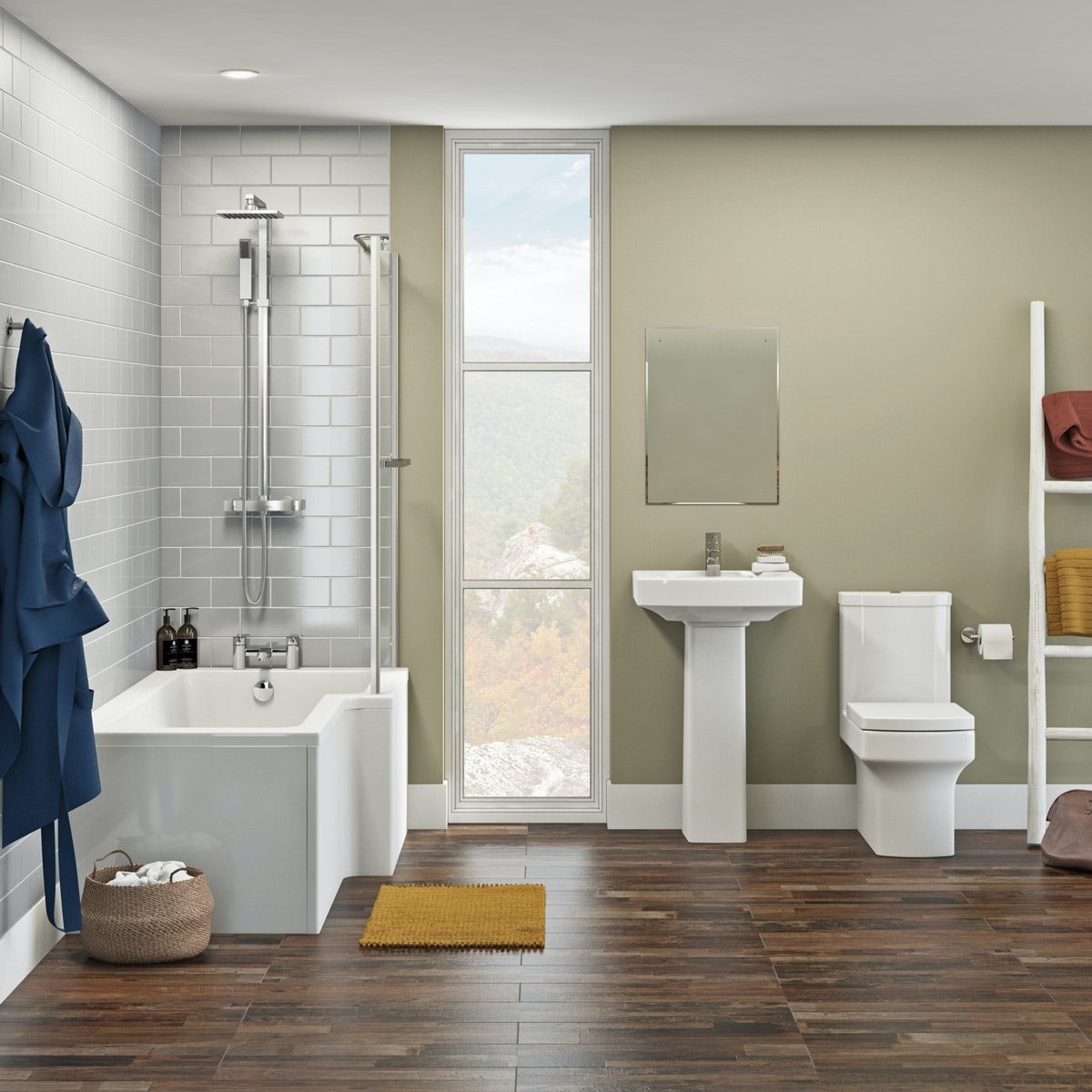 Orchard Wye Bathroom Suite With Right Handed L Shaped