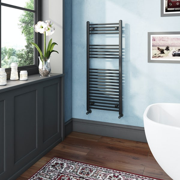The Heating Co. Phoenix anthracite grey heated towel rail