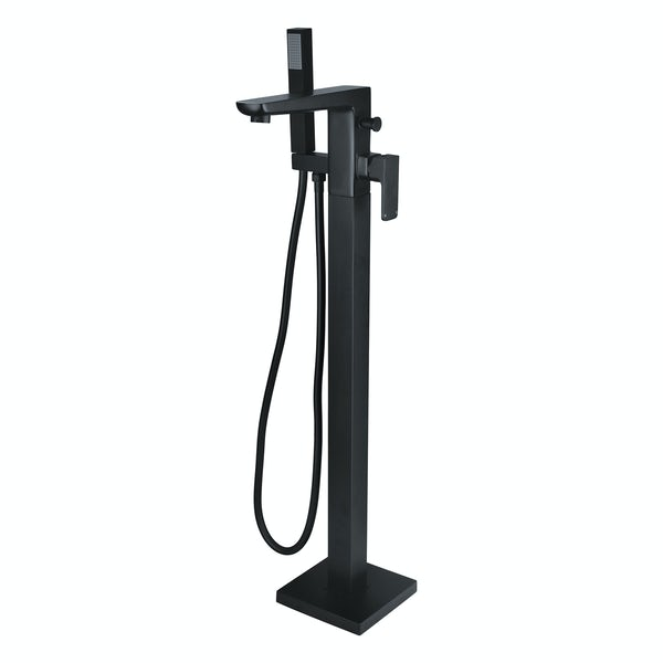 Mode Foster black basin and freestanding bath tap pack