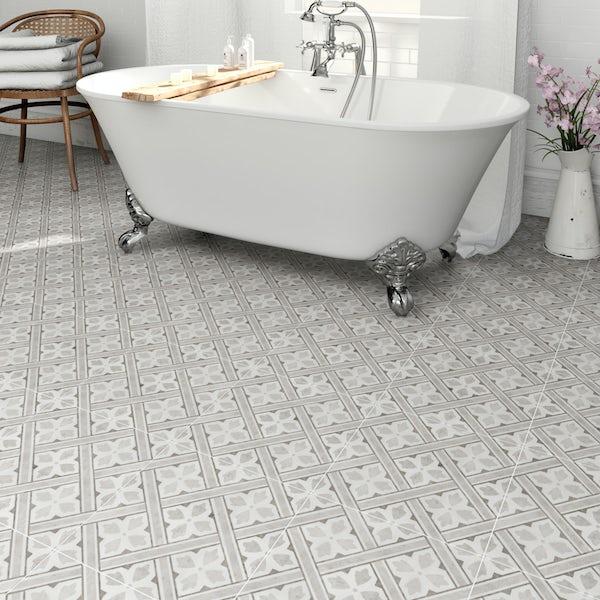 Laura Ashley Floor Tiles >> Laura Ashley Heritage Mr Jones grey charcoal matt tile