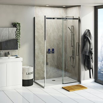 Multipanel Linda Barker Soapstone Stellar shower wall panel pack for enclosures up to 1200 x 1200