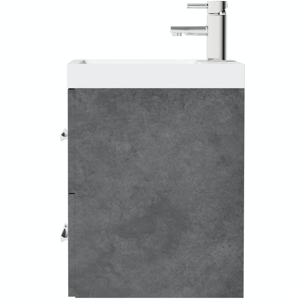 Orchard Kemp wall hung vanity unit and basin 600mm