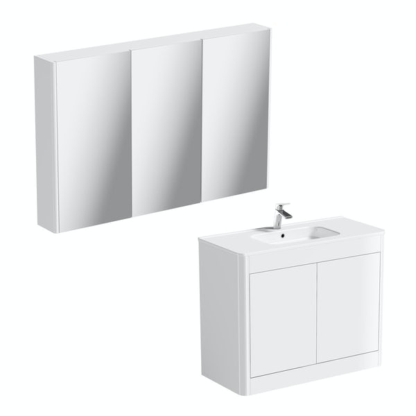 Carter Ice White 1000 vanity unit and mirror offer