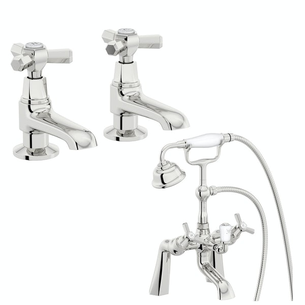 The Bath Co. Beaumont basin pillar and bath shower mixer tap pack