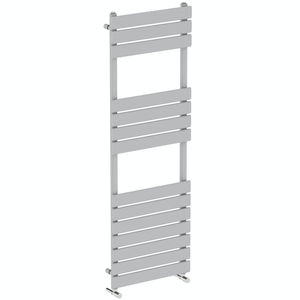 Orchard Wharfe stone grey heated towel rail 1500 x 500