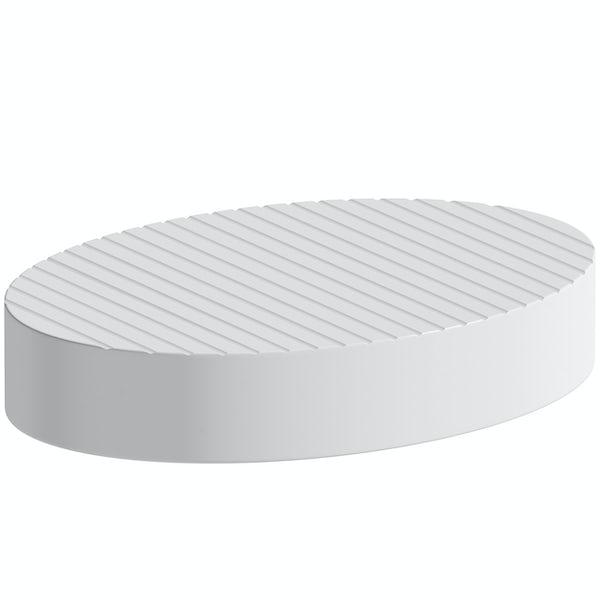 Accents white soap dish