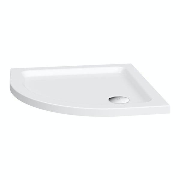 The Bath Co. Winchester complete bathroom suite with 4mm enclosure 900 x 900