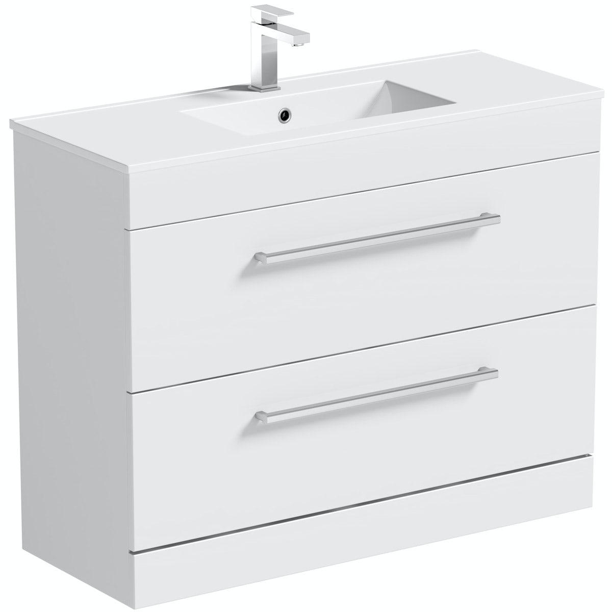 Orchard Derwent white vanity drawer unit and basin 900mm