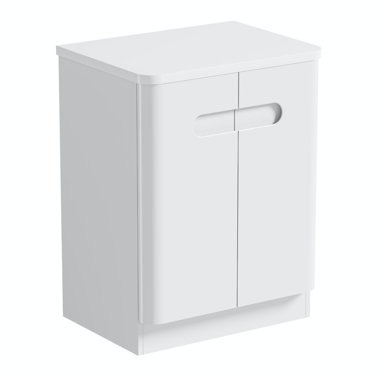 Mode Ellis white vanity door unit and countertop 600mm