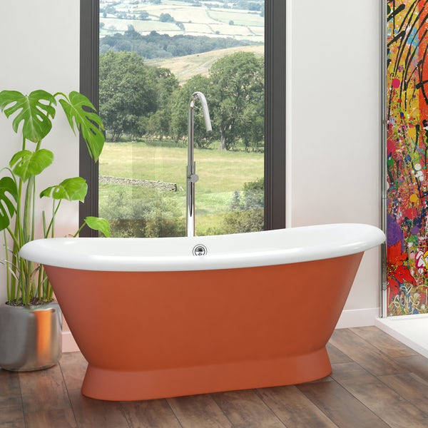 Artist Collection Orange Burst traditional freestanding bath & tap pack