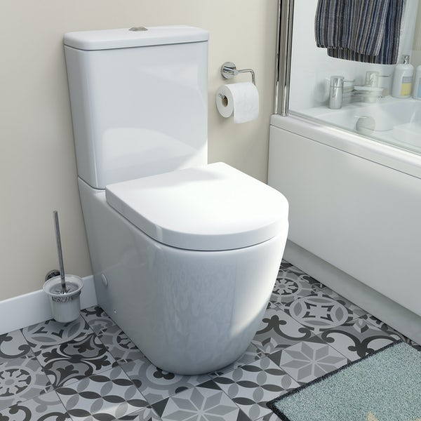 Orchard Contemporary raised height close coupled toilet and soft close seat