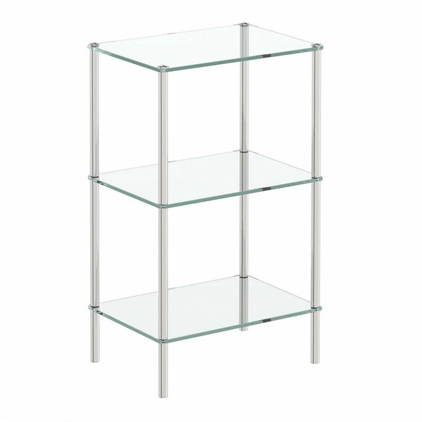 Options Freestanding Square 3 Glass Shelf Unit