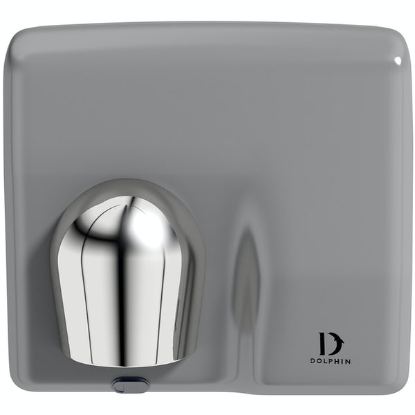 Dolphin commercial white metal hand dryer