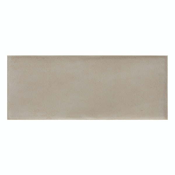 Chateau taupe bumpy matt wall tile 200mm x 500mm