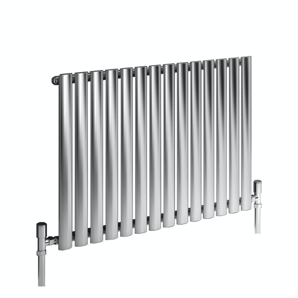 Reina Nerox single brushed stainless steel designer radiator