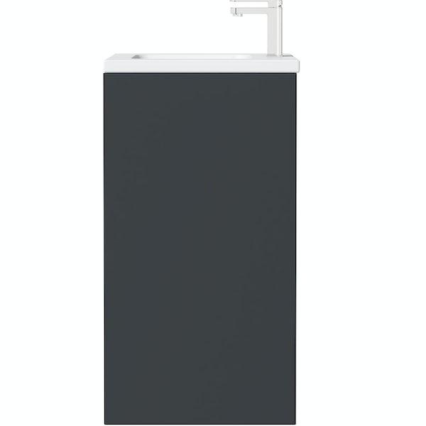 Mode Larsen grey gloss floorstanding vanity unit and basin 800mm