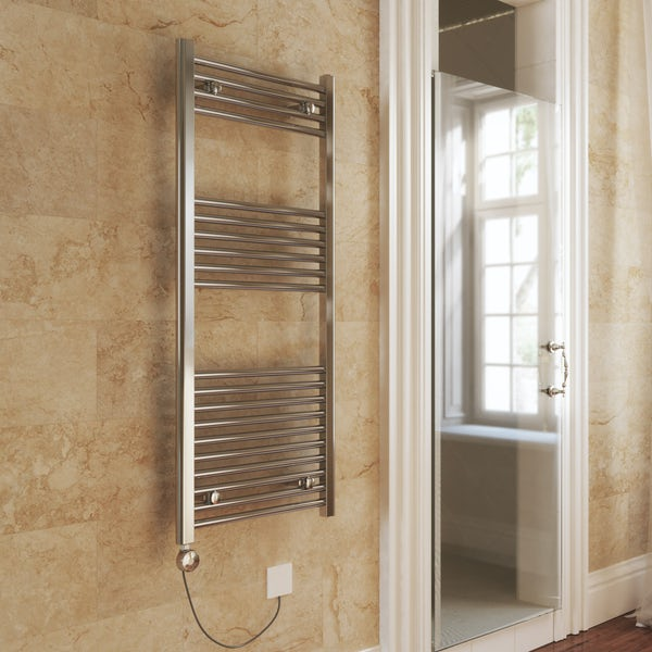 Terma Leo MEG chrome electric towel rail