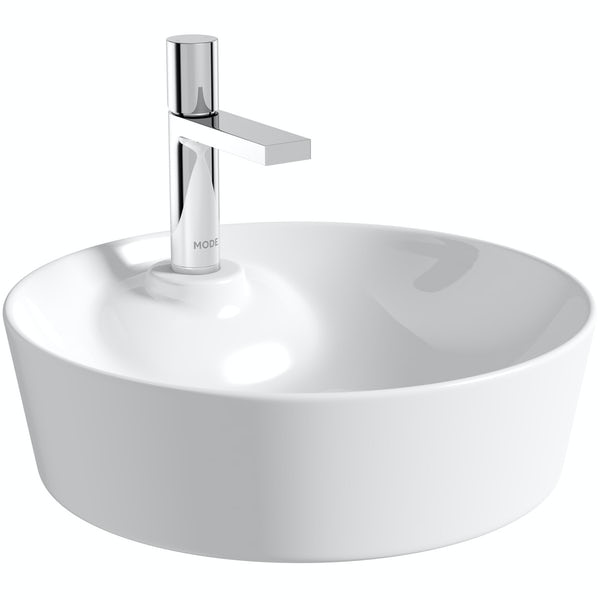 Mode Fairey round thin edge 1 tap hole countertop basin 450mm