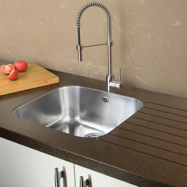 Tuscan Florence stainless steel large bowl undermount kitchen sink
