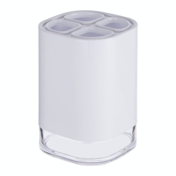 Accents White acrylic toothbrush holder