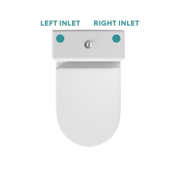 Orchard modern close coupled toilet and seat