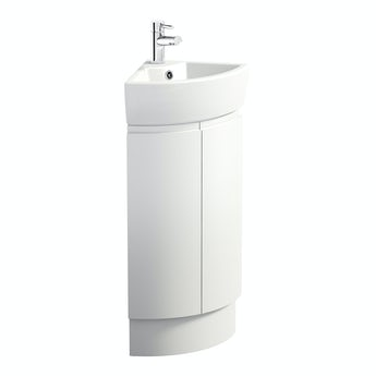Mode Harrison snow corner vanity unit and basin