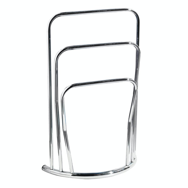 Freestanding curve chrome multi towel rack