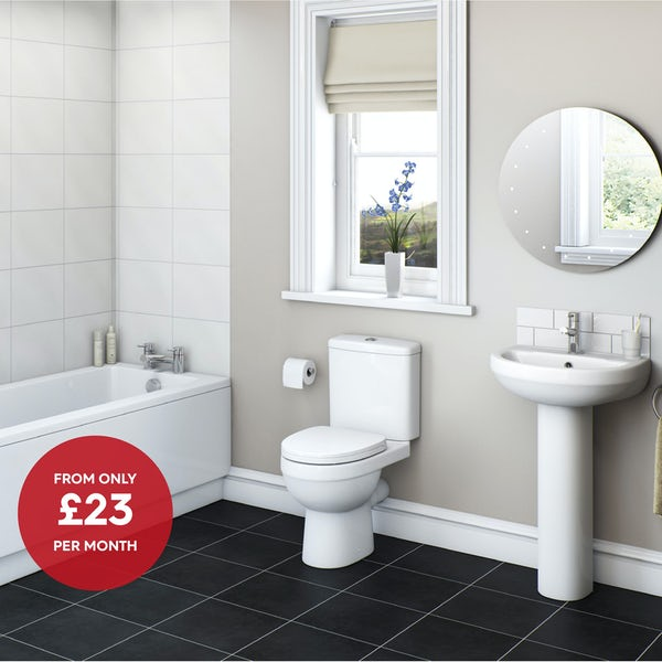 Eden straight bath Bathroom Suite