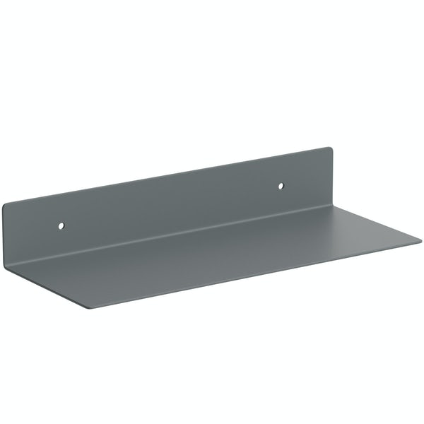 Accents Mono grey 300mm bathroom shelf