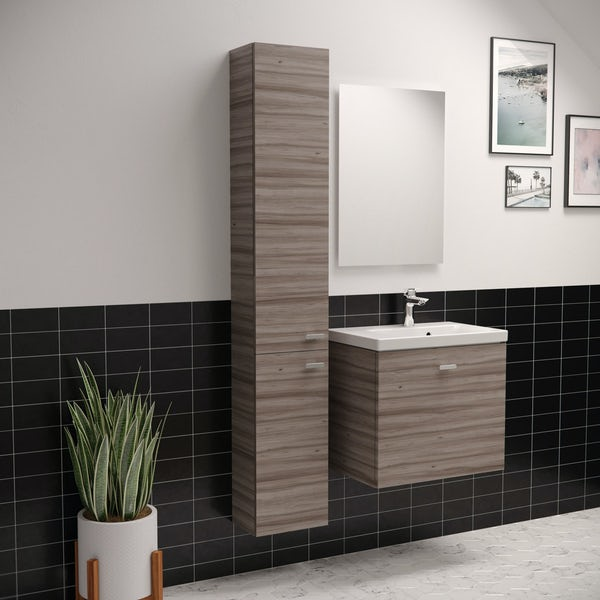 Ideal Standard Concept Space elm tall unit with two doors