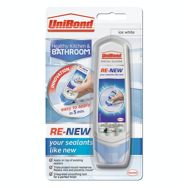 UniBond Re-new white bathroom sealant