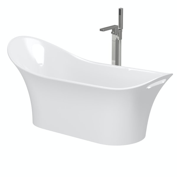 Mode Heath slipper freestanding bath & tap pack with Ellis bath filler