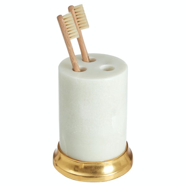 Accents Marble and brass effect traditional toothbrush holder