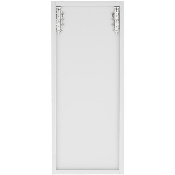 Schon Boston light grey slab wall unit