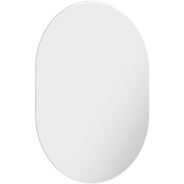 Accents bevelled edge oval mirror 60 x 45cm