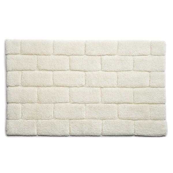 Hug Rug luxury bamboo brick cream bathroom mat 50 x 80cm