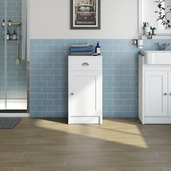 The Bath Co. Dulwich matt white storage unit 800 x 400mm