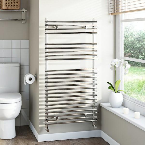 Tubular Heated Towel Rail 1150 x 600