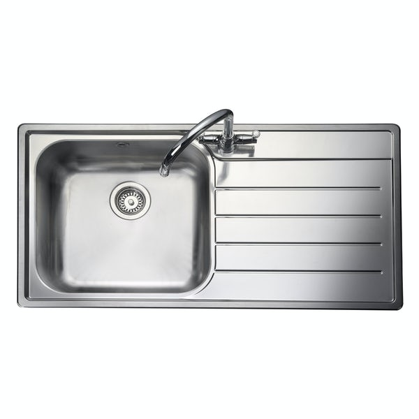 Rangemaster Oakland 1.0 bowl right handed kitchen sink