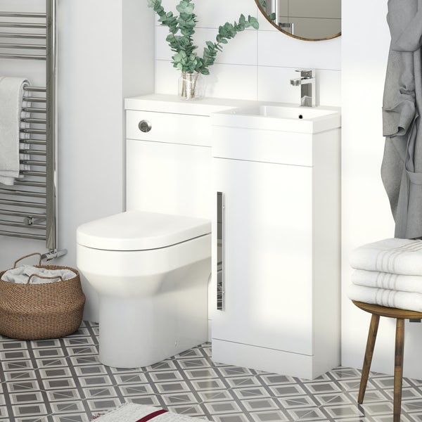 Orchard MySpace white right handed combination including concealed cistern