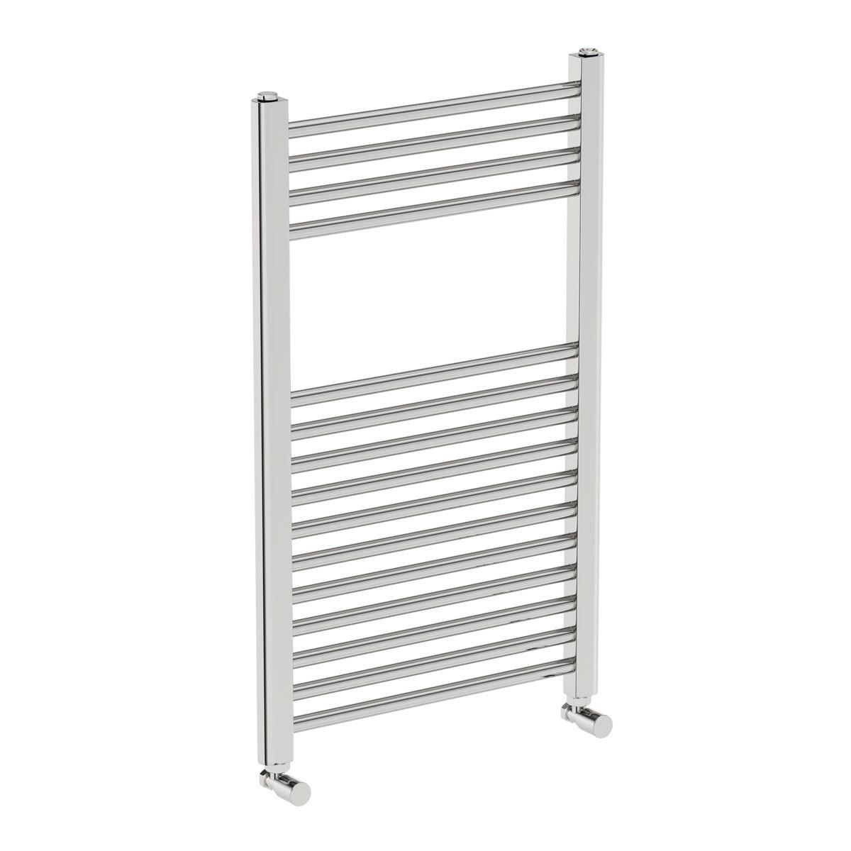 Eden round heated towel rail 800 x 490