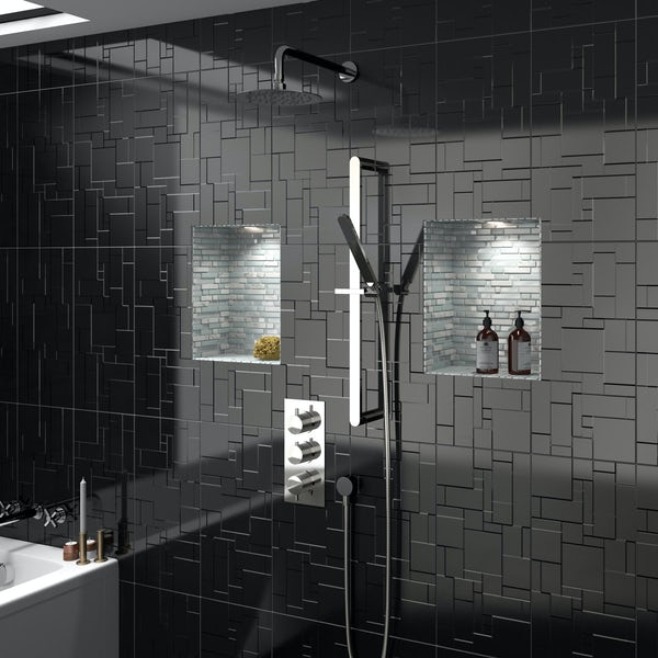 Mode Banks triple thermostatic shower valve