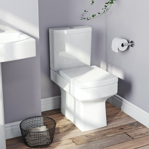 Orchard Wye square thermoset replacement toilet seat with soft close hinges