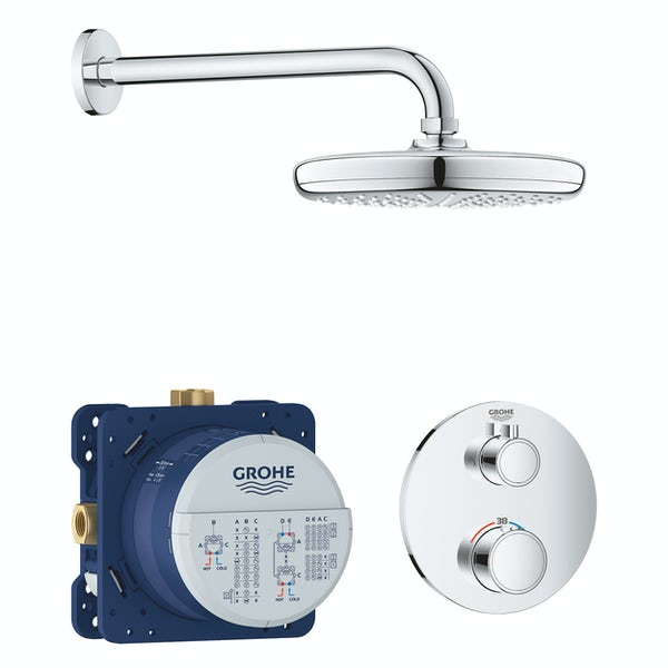 Grohe Grohtherm Perfect Shower set with Tempesta 210mm shower head