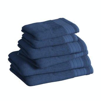 Accents navy 6 piece towel bale