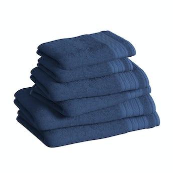 Accents navy 6 piece towel bale