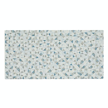 Glacier blue and grey feature gloss wall tile 100mm x 200mm