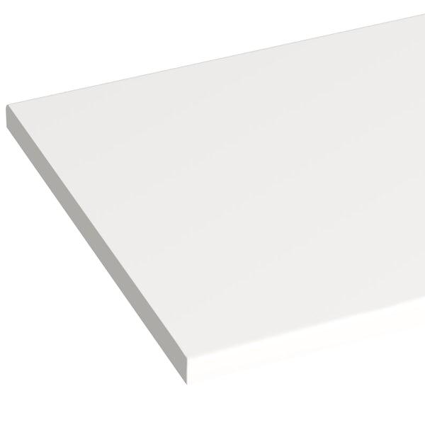 Orchard Wharfe arctic white laminate worktop 337 x 1500mm